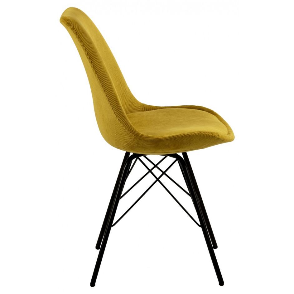 Set of 2 Chairs Iris | Yellow