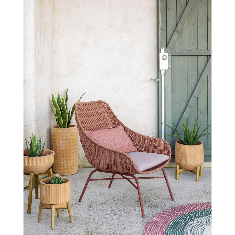 Cushion Cover Dalila PET   Terracotta