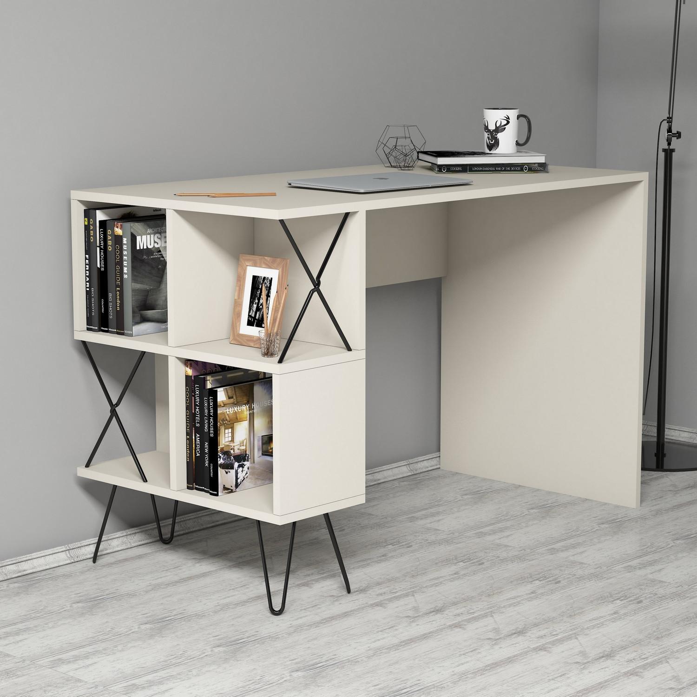 Schreibtisch Extra | Creme-Schwarz