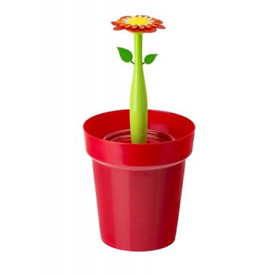 Bathroom Bin Flower Power 3L   Red