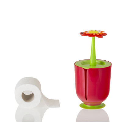 Toilettenpapierhalter Flower Power   Rot