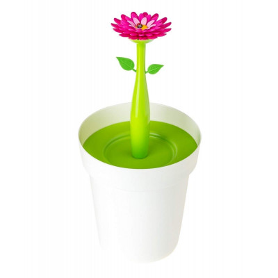 Bathroom Bin Flower Power 3L   White