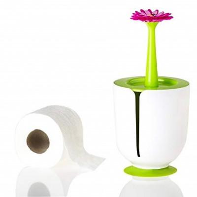 Toilettenpapierhalter Flower Power   Weiß