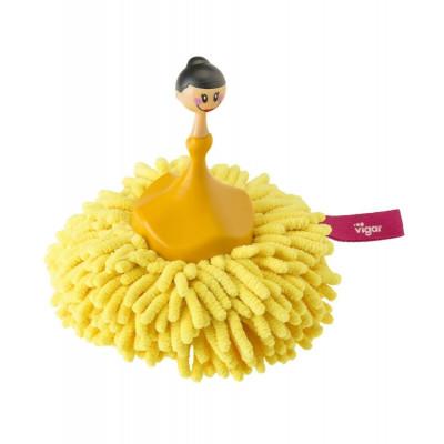 Microfibre Sponge & Duster Dolls   Yellow