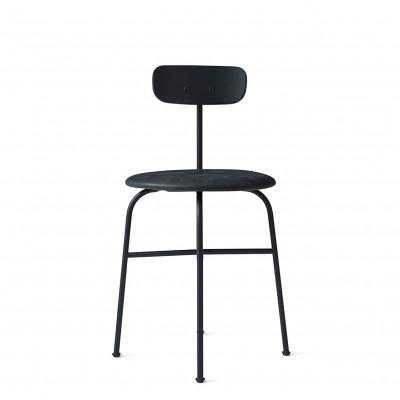 Esszimmerstuhl Afteroom Plus | Stahlgestell, Rückenlehne schwarz, gepolsterter Sitz PC1T