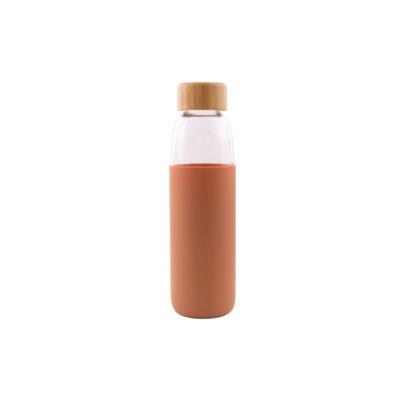 Glasflasche mit Silikonhülle 58 cl l Kupfer