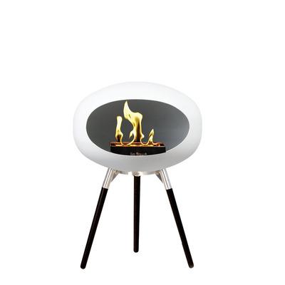 Bio Fireplace Ground Wood White 45 cm | Black Oak