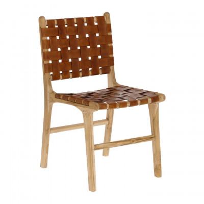 Stuhl Calixta   Leder & Holz