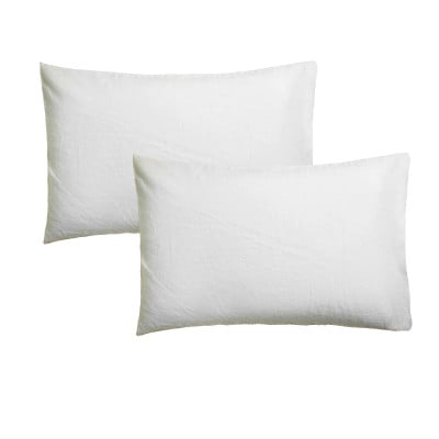 Set of 2 Pillow Covers 50 x 75 | White