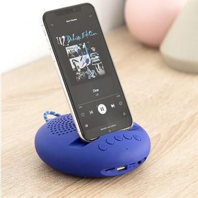 Drahtloser Lautsprecher mit Halter für Geräte SonoDock | Blau