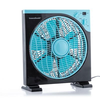 Bodenventilator 50 W | Schwarz & Blau