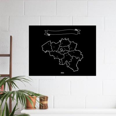 Chalk Map XL | Belgium