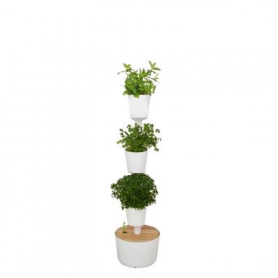 selbstbewässernde vertikale Kräuter-Pflanzgefäße | Weiß