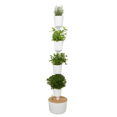 Selbstbewässernd Vertikale Pflanzgefäße | Weiß-M
