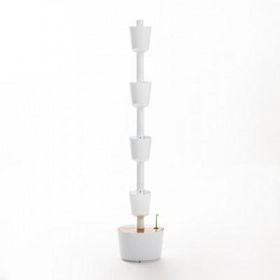 selbstbewässernde vertikale Pflanzgefäße | Weiß