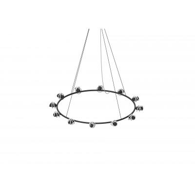 Kronleuchter Circular B mit Curli B LED-Glühbirnen | Schwarz