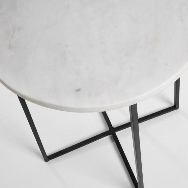 Beistelltisch Burnet B | Metall & Weißem Marmor