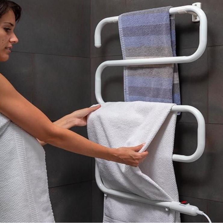 Electric Towel Rail S-shape | 5 Bars | White