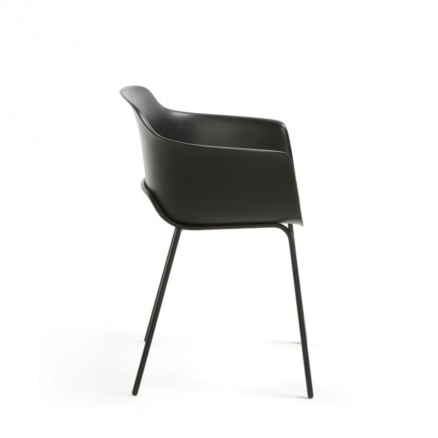 Set of 2 Chairs Khasumi   Black