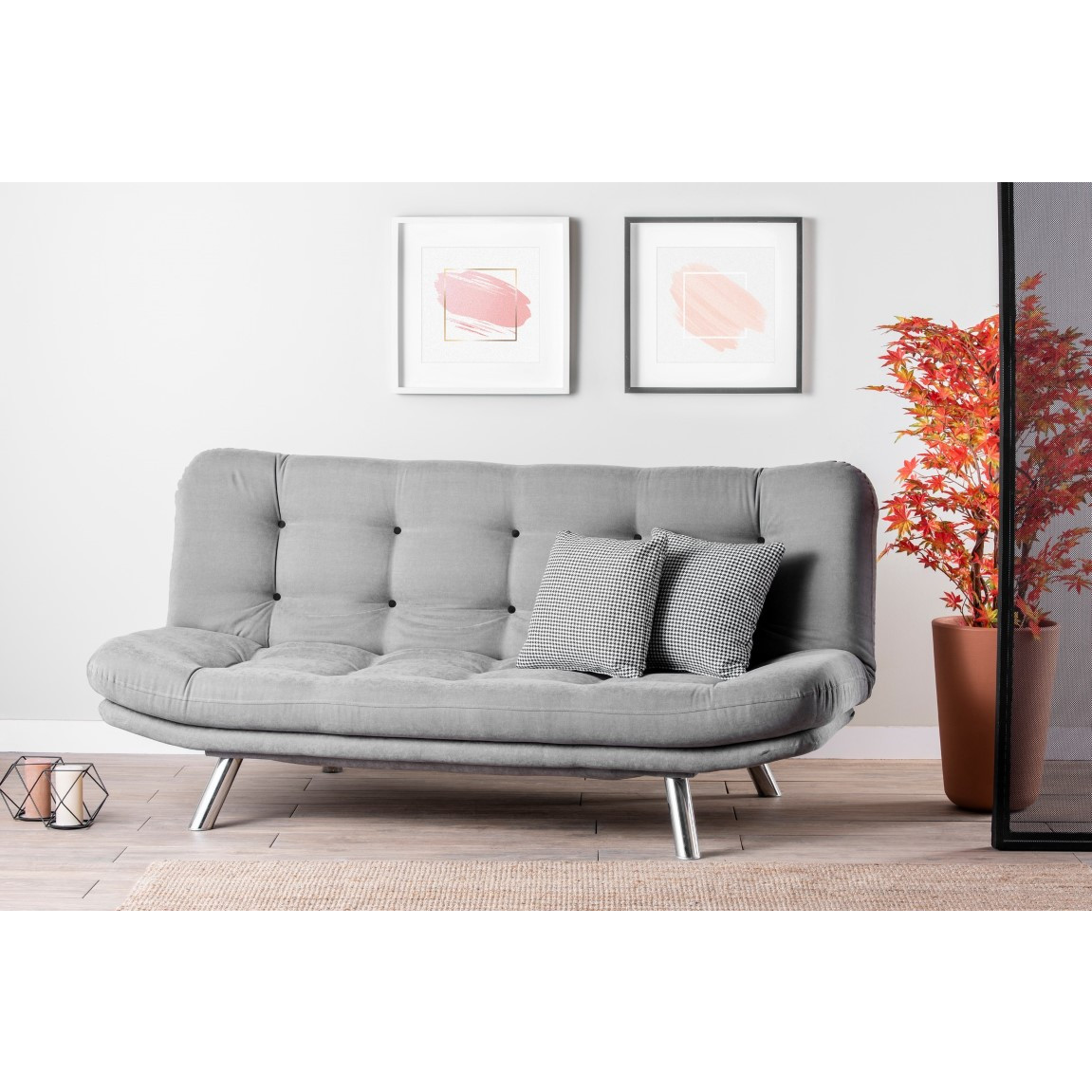 3 Seater Sofabed Misa | Grey