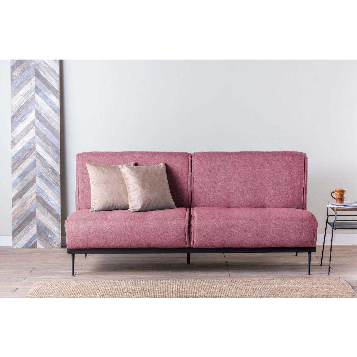 3-Sitzer-Sofabett Anton | Rosa