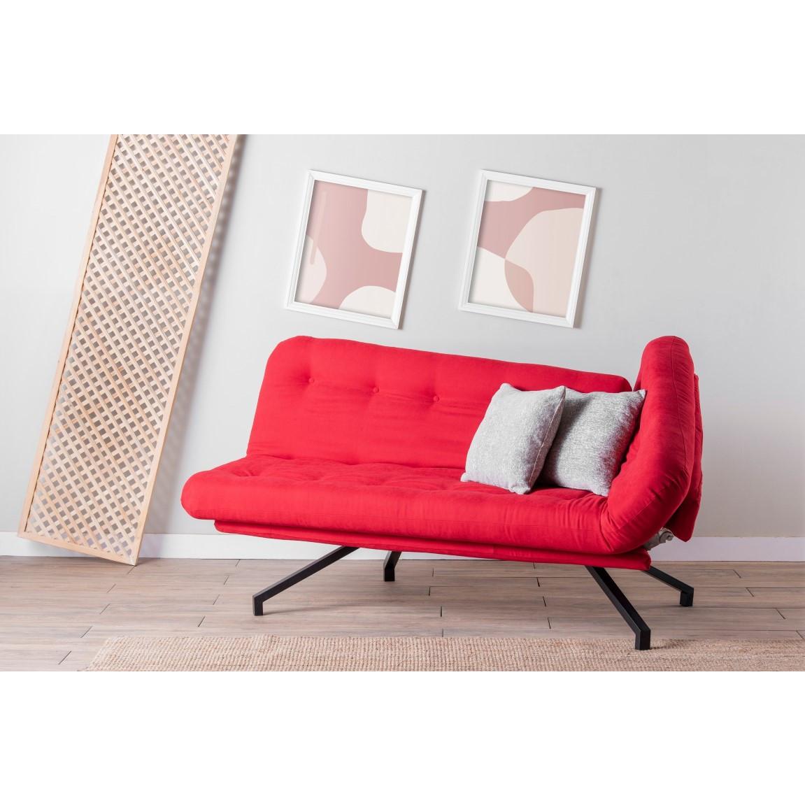 3-Sitz-Sofabett Coxy   Rot