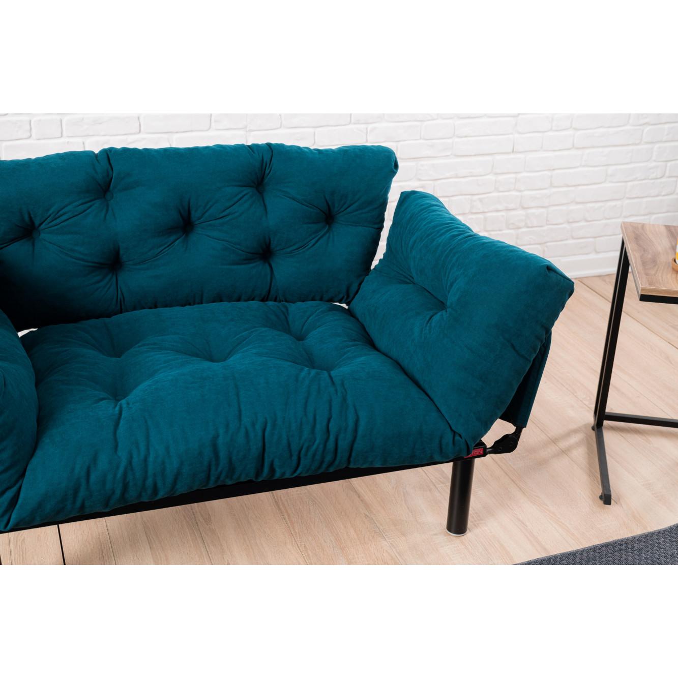 2-Sitz-Sofabett Nitta   Benzinblau