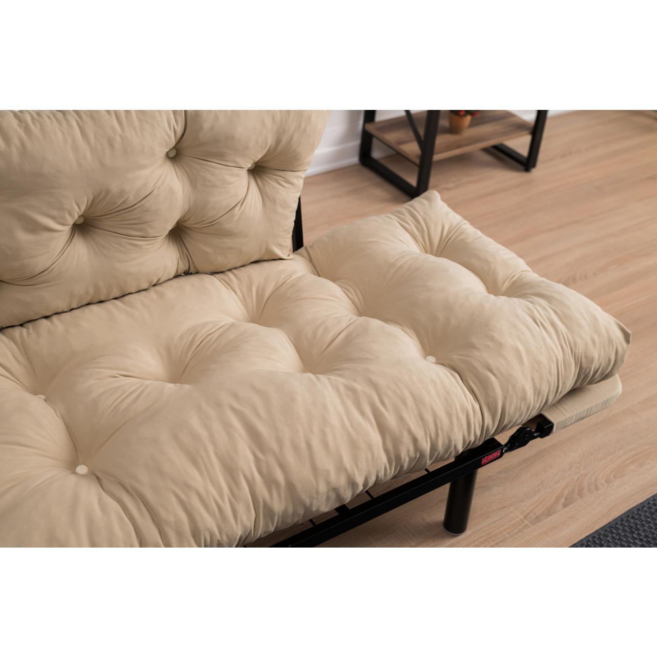 2-Sitz-Sofabett Nitta | Creme