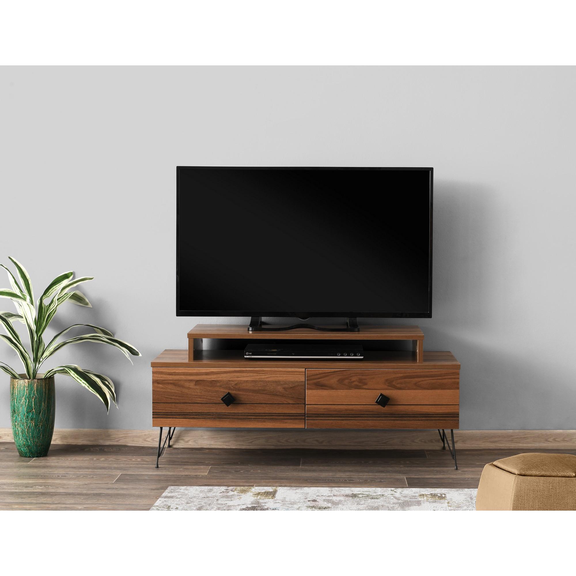 TV-Ständer Kardelen | Naturholz & Schwarz