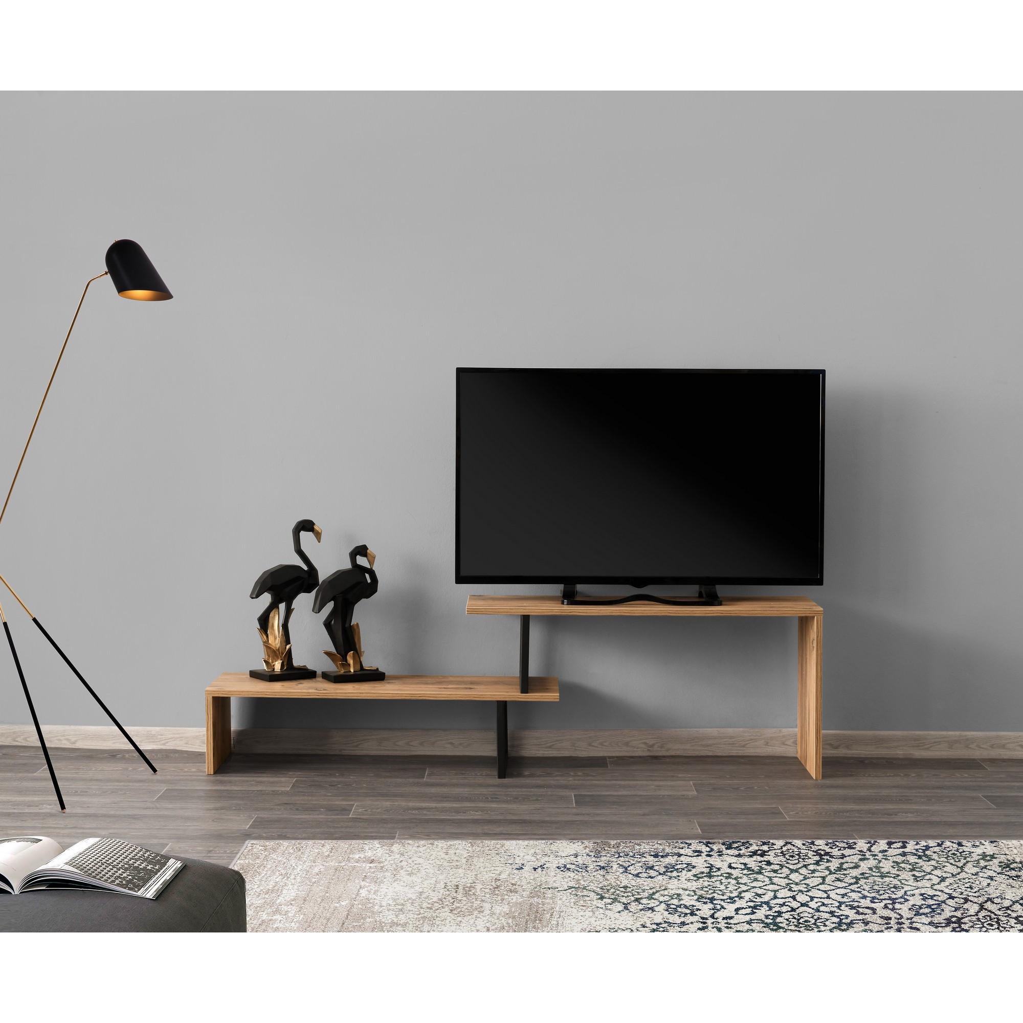 TV Stand Ovit   Black & Pine