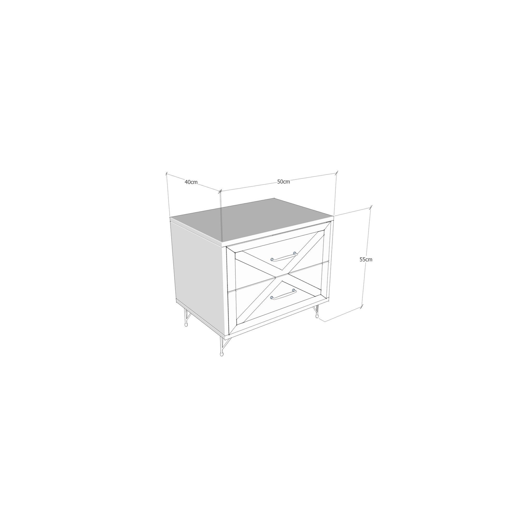 Bedside Table Felicita | Anthracite + Pine