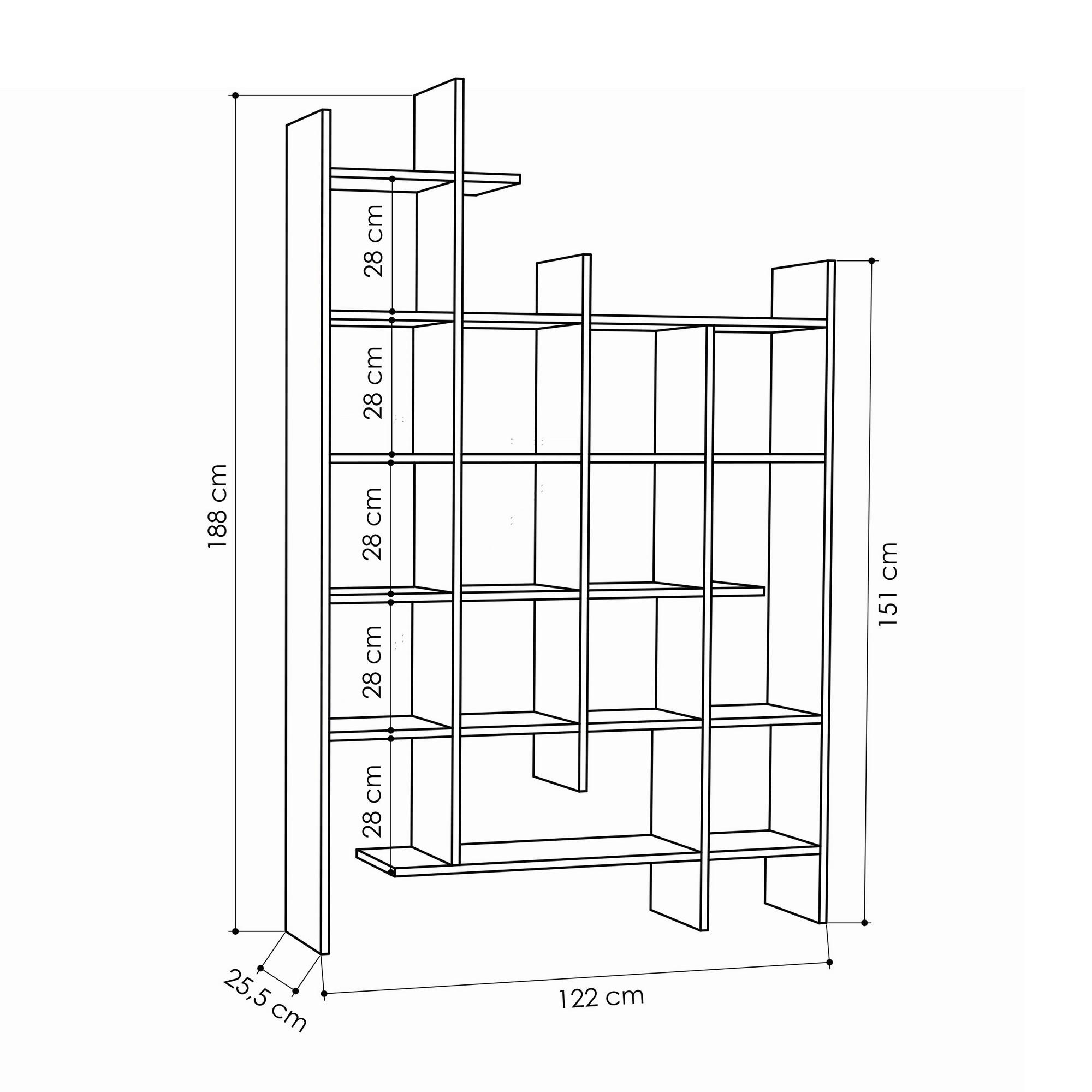 Bookshelf Manco | White