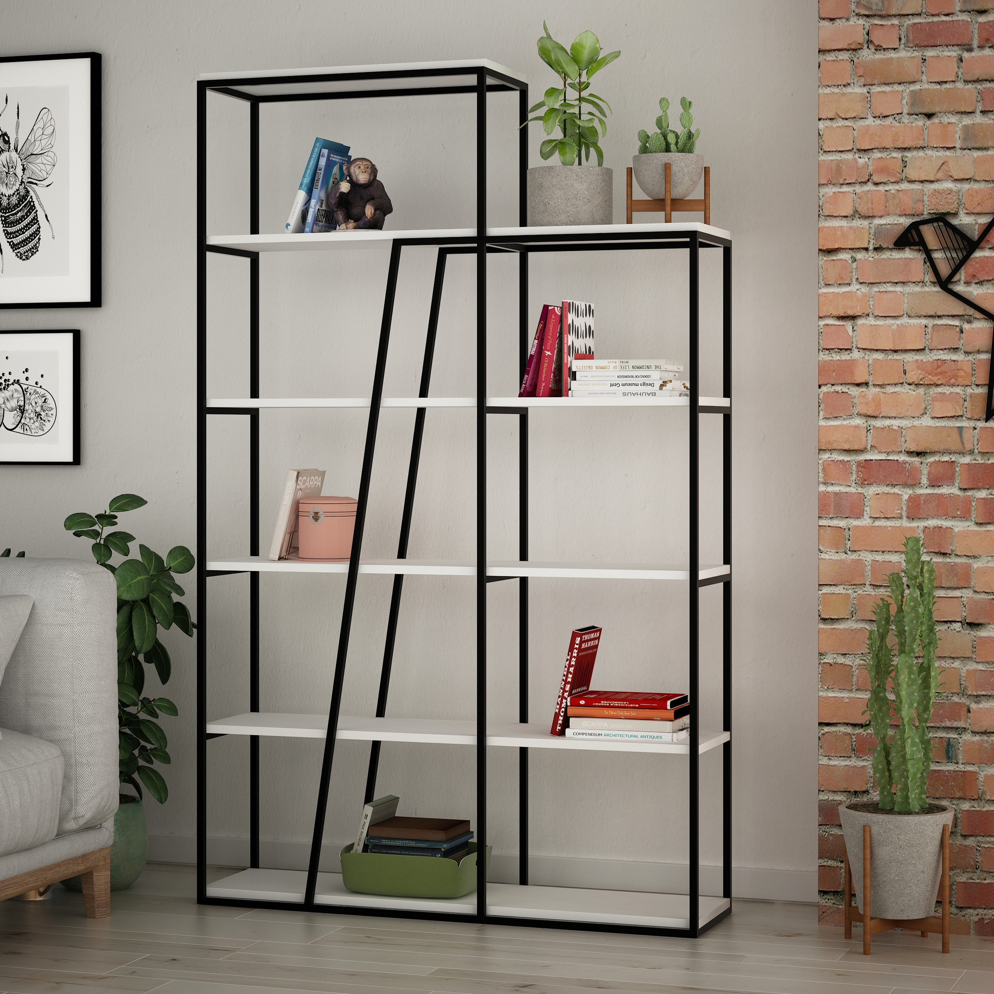Bücherregal Pal | Weiß