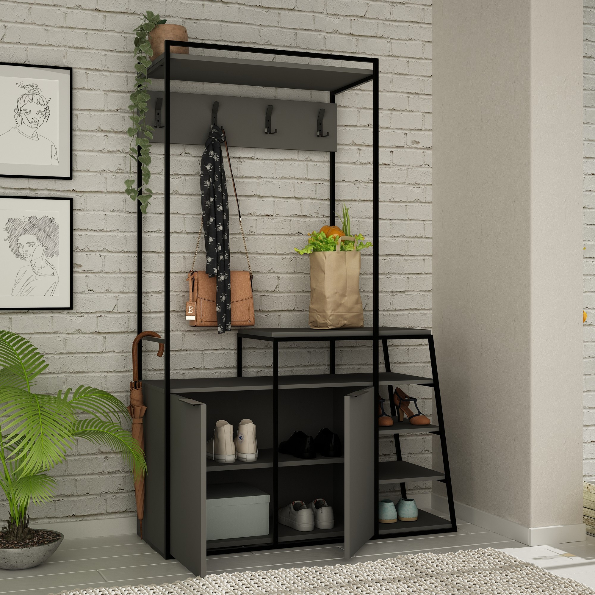 Coat Stand Pall | Anthracite