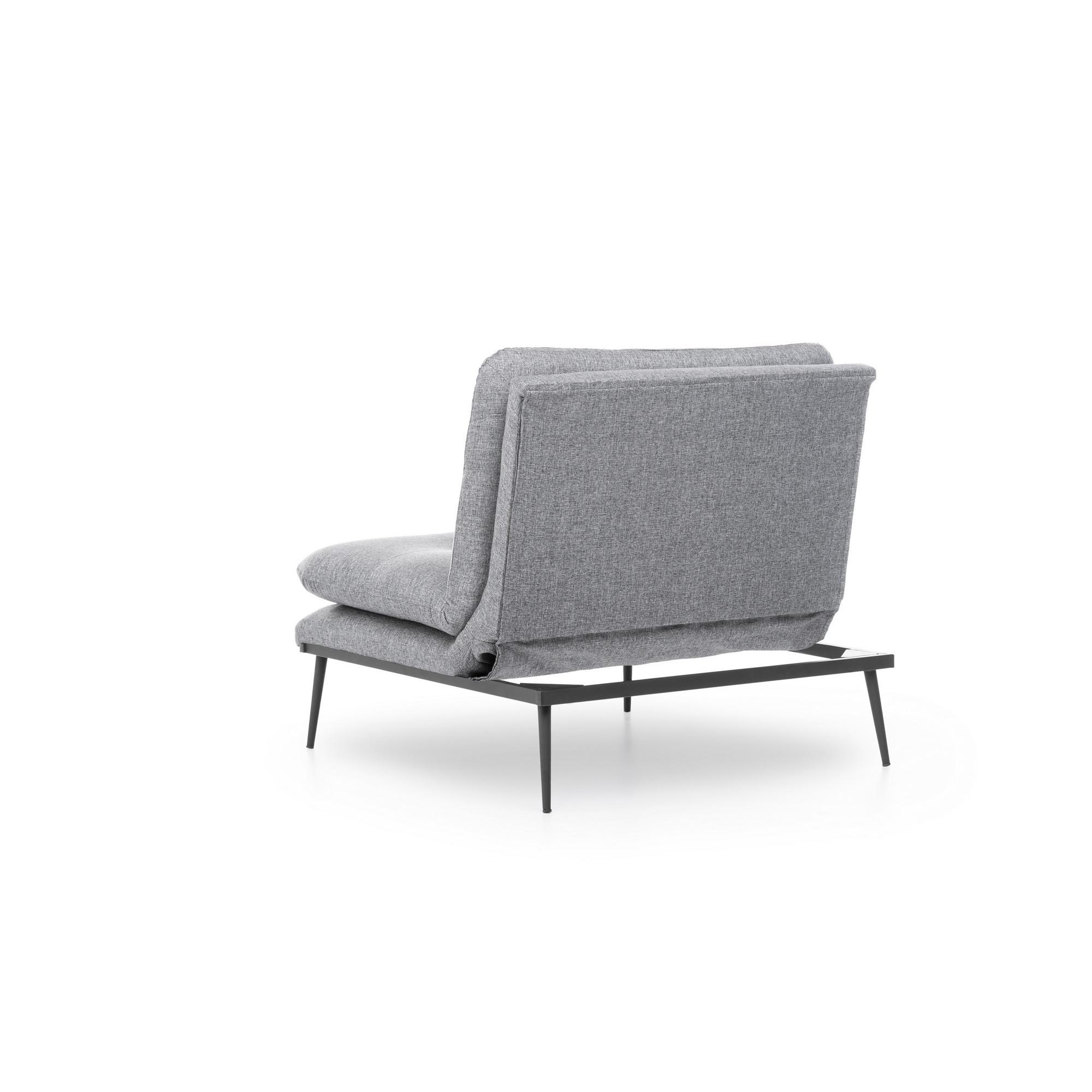 1 Seater Sofa Martin Solo   Grey