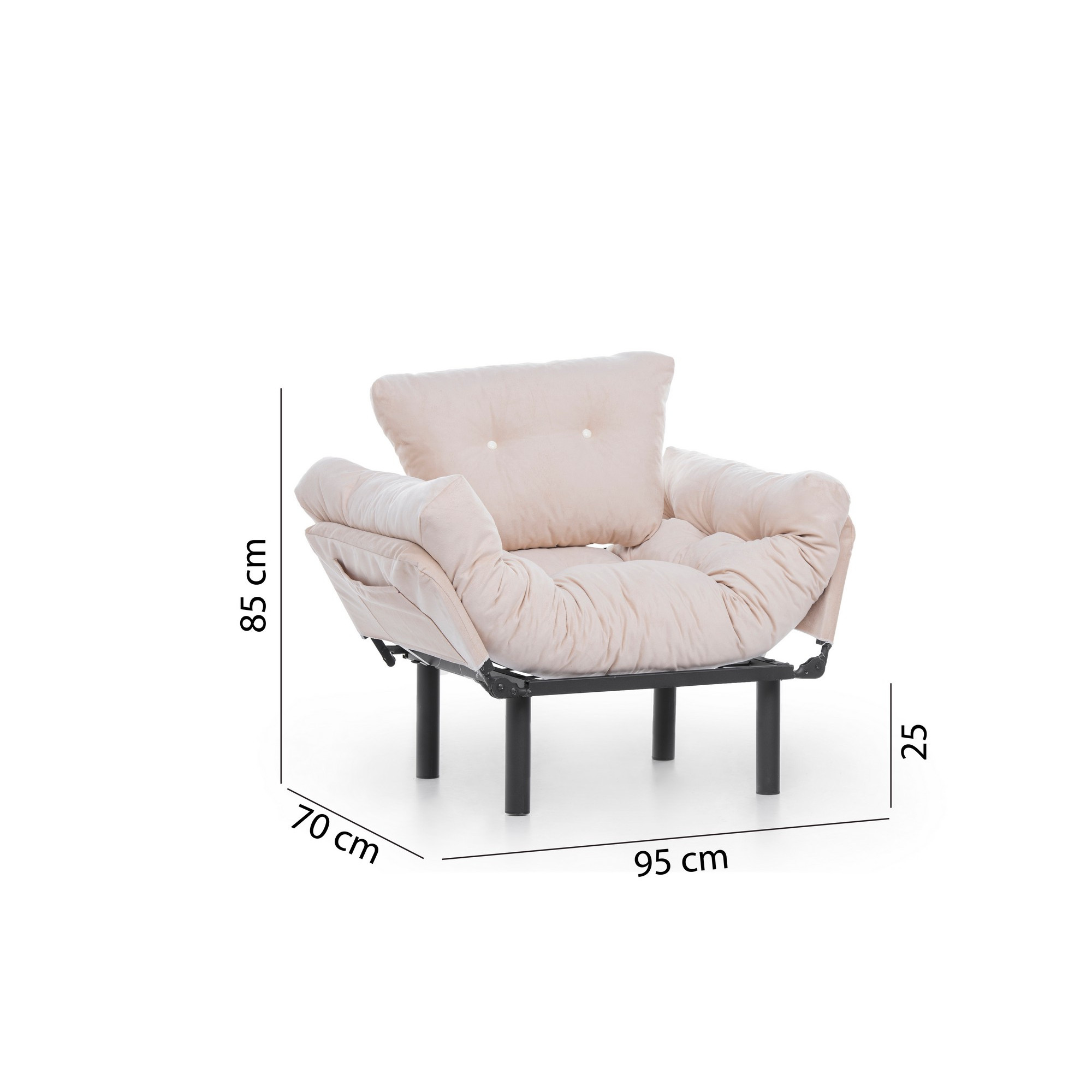 1 Seater Sofa Bed Nitta | Cream