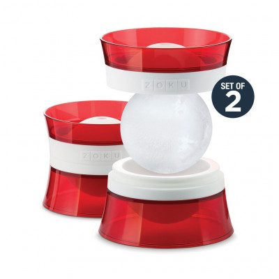 Eiskugelformen - 2er-Set | Rot