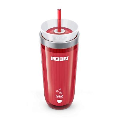 Eis-Kaffeemaschine + Trinkhalm | Rot