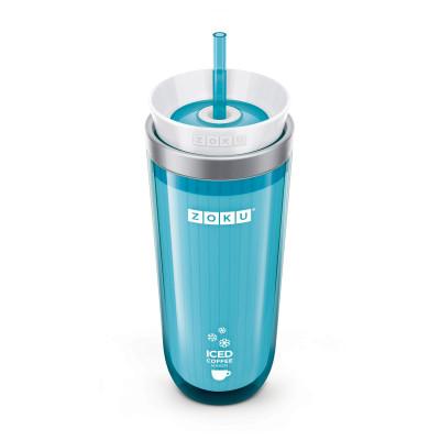 Eis-Kaffeemaschine + Trinkhalm | Teal