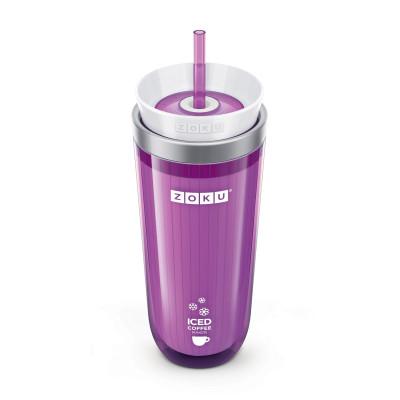 Eis-Kaffeemaschine + Trinkhalm | Violett