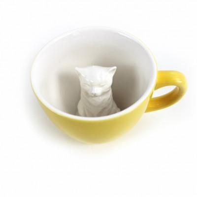 Tasse Creature Cup Katze | Gelb