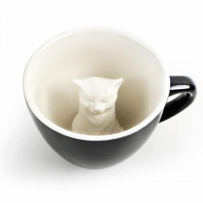 Tasse Creature Cup Katze   Dunkelgrau