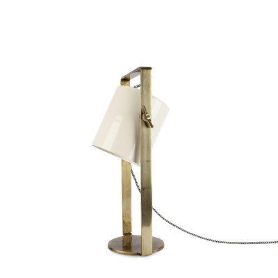 Tischlampe Cylinder | Elfenbein