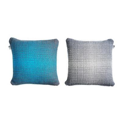 2 Seitengradient Kissenbezug | Blau