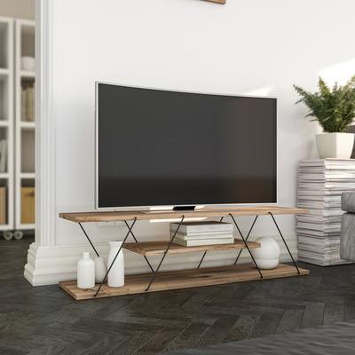 TV Stand Canaz | Walnut & Black