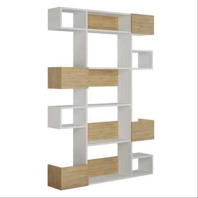 Bücherregal Niho | Helles Holz & Weiß