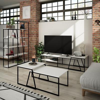 Wohnzimmermöbelset Pal | Weiß