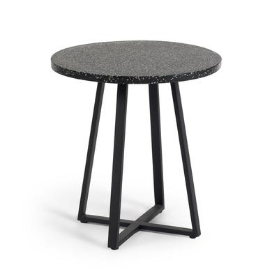 Runder Tisch Tella Innen/Außen | Terrazzo Schwarz