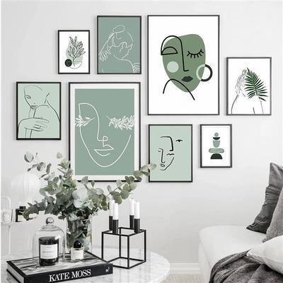 8er-Set Wandkunst Kunst-Minze TS293   Mehrfarbig