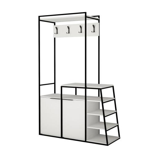 Garderobenständer Pall | Weiß